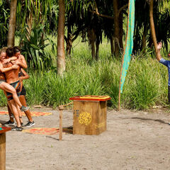 Kama wins the sixth Immunity Challenge, <i>In Through the Out Door</i>.