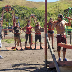 Mana competing in the fourth Immunity Challenge, <i><a href=