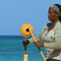 Cirie competing in 'Can't Buoy Me Love'.