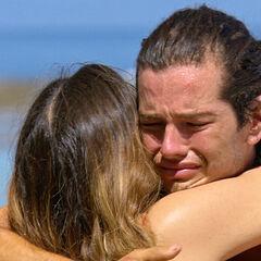 Jay hugging his sister.