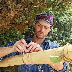 Jeremiah working on the Solana shelter