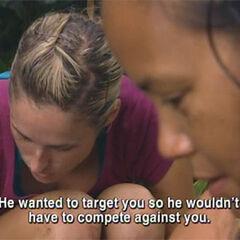 Candice plotting against Jonathan.