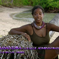 Cassandra doing a confessional.