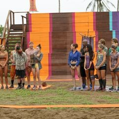 Both tribes at the challenge.