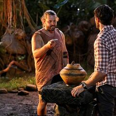 A.K. plays a Hidden Immunity Idol at Samatau's first Tribal Council.