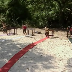 The contestants compete in the Immunity Challenge