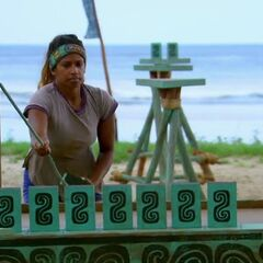 Natalie competing in the final seven Immunity Challenge, <i><a href=