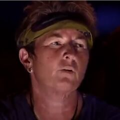 Patricia at Tribal Council.