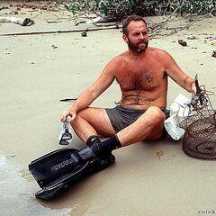 Richard fishing.
