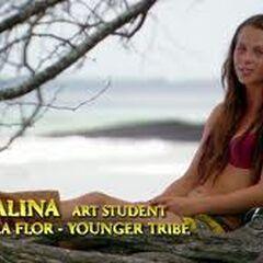 Alina giving a <a href=