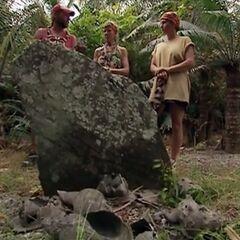 The Final Three at Roy Mata's grave