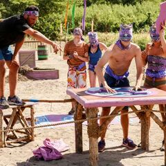 Domenick competes in the Immunity Challenge, <i><a href=