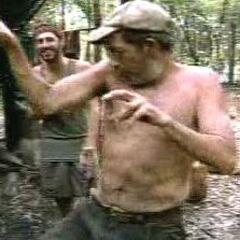Butch dancing on Jacaré camp.