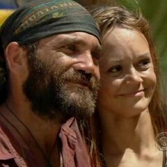 Russell with his wife, Melanie.