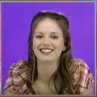 Amber as a panelist on <i>Hollywood Squares</i>.