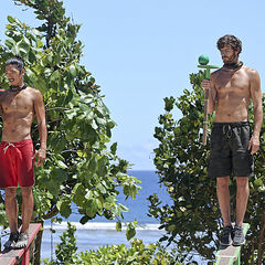 Jeremiah at the Final 8 Immunity Challenge.