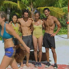 Candice is exiled by the Aitu tribe.