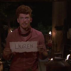 Patrick voting against Lauren.