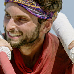 Ryan competing in <i>Squatty Probst</i> for immunity.