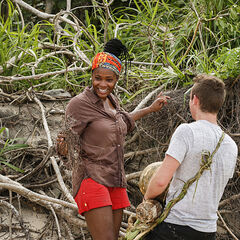 Michaela and Adam at camp.