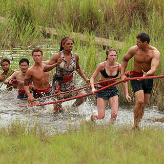 Michelle competes in the first tribal <a href=