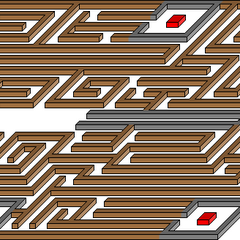 <i>Redemption Island</i> maze diagram.