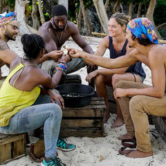 The new Levu tribe bonds at camp.