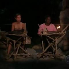 Cirie and Danielle at the fire making challenge