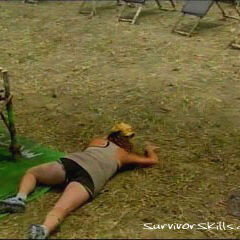 Lisi falls at the <a href=