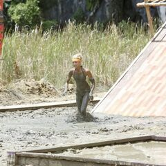 Andrea competing during the challenge.