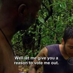 Brandon telling Phillip what he thinks about his alliance and control over the camp.