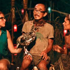 Tai at the Final Tribal Council with Aubry and Michele.