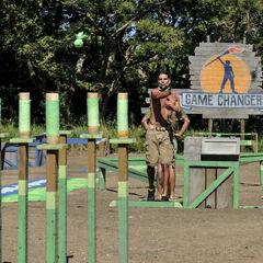 Troyzan throwing sandbags for Tavua in <i><a href=