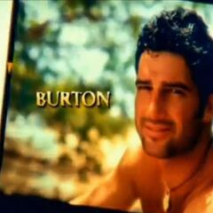 Burton's photo in the opening.