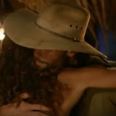 Jerri hugging Colby after his elimination.