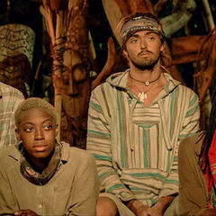 Desiree at Tribal Council with <a href=