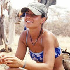 Kim sitting at Samburu.