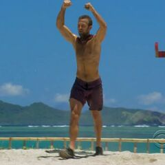 Vytas makes a point at the 5th Immunity Challenge.