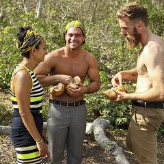 Max, Joaquin, and Shirin talking.