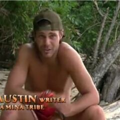 Austin making a confessional.