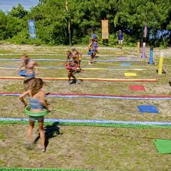 Lumuwaku competes in the sixth individual Immunity Challenge, <i>Dizzy Miss Lizzy</i>.