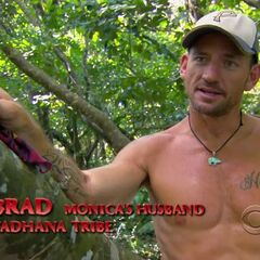 Brad giving a confessional.