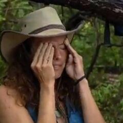 Jerri, upset that she failed to win immunity for Mogo Mogo.