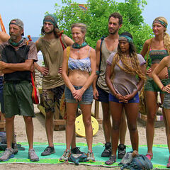 The castaways compete.