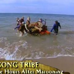 Pagong arrives at their beach.