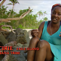 Cirie making a confessional about losing the pizza reward.