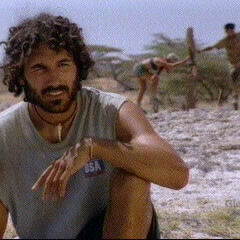 Ethan just after losing the Final Immunity Challenge.