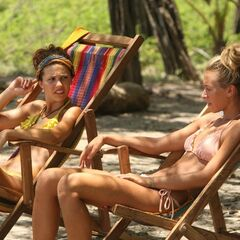 Ashley relaxing with Natalie.