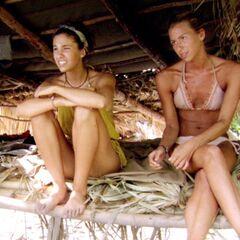 Natalie and Ashley at camp.