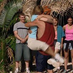 Chris reunites with his fiancé, Lorie.